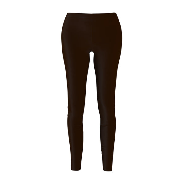 Brown Syrup Classic Solid Color Women's Casual Leggings - Made in USA-Casual Leggings-M-Heidi Kimura Art LLC