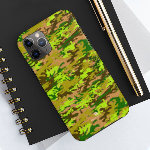 Army Green Camo iPhone Case, Case Mate Tough Samsung Galaxy Phone Cases-Phone Case-Printify-Heidi Kimura Art LLC Army Green Camo iPhone Case, Camouflage Army Military Print Sexy Modern Designer Case Mate Tough Phone Case For iPhones and Samsung Galaxy Devices-Printed in USA