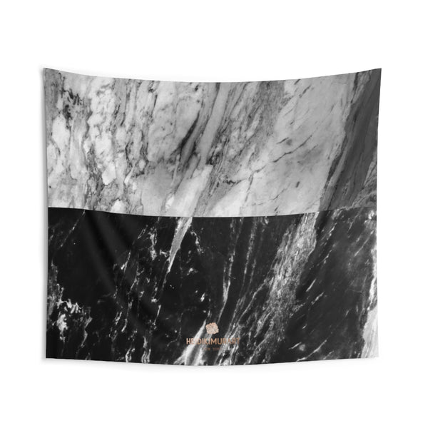 Copy of Grey Black Marble Print Designer Indoor Wall Tapestries- Made in USA-Home Decor-104x88-Heidi Kimura Art LLC