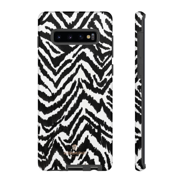 White Tiger Stripe Phone Case, Animal Print Best Tough Designer Phone Case -Made in USA-Phone Case-Printify-Samsung Galaxy S10 Plus-Glossy-Heidi Kimura Art LLC