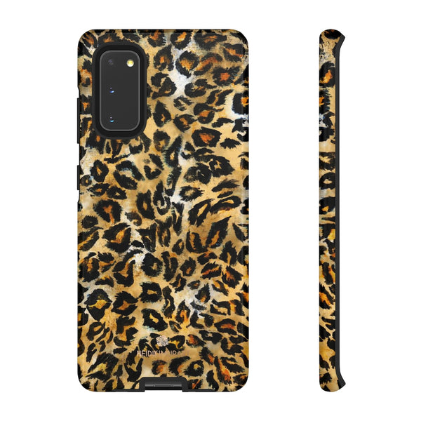 Brown Leopard Tough Cases, Animal Print Best Designer Phone Case-Made in USA-Phone Case-Printify-Samsung Galaxy S20-Glossy-Heidi Kimura Art LLC
