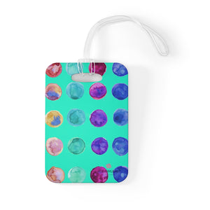 Cute Watercolor Polka Dots Designer Travel Luggage Suitcase Bag Tag - Made in USA-Bag Tags-One Size-Heidi Kimura Art LLC
