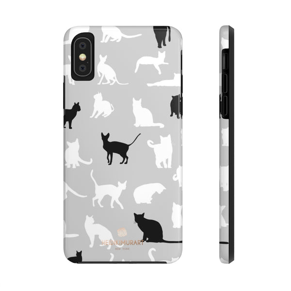 Black and White Cat Kitty Cute Case Mate Tough Phone Cases-Made in USA - Heidikimurart Limited