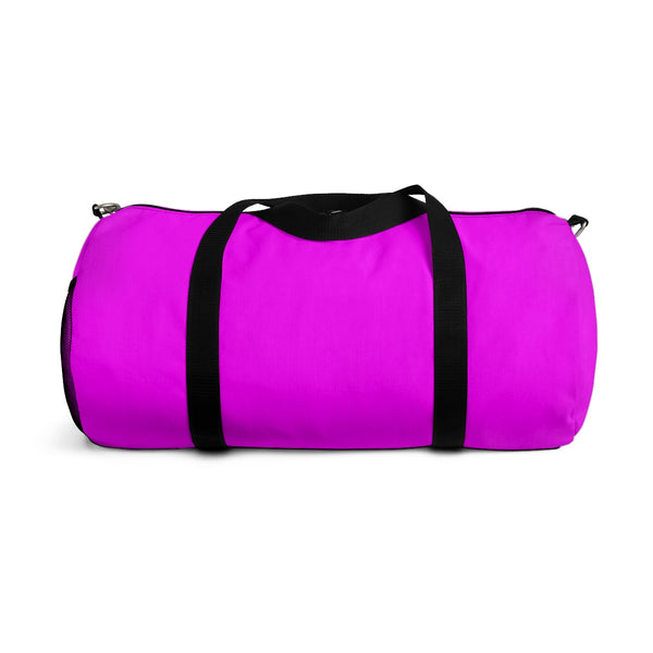 Solid Pink Color All Day Small Or Large Size Duffel Bag, Made in USA-Duffel Bag-Heidi Kimura Art LLC