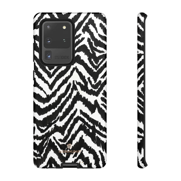 White Tiger Stripe Phone Case, Animal Print Best Tough Designer Phone Case -Made in USA-Phone Case-Printify-Samsung Galaxy S20 Ultra-Matte-Heidi Kimura Art LLC