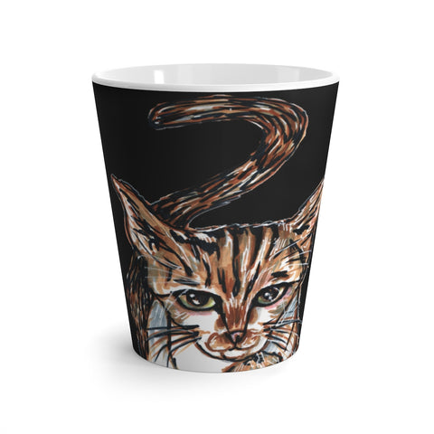 Black Cute Cat Coffee Mug, Cute Cat 12 oz Latte Mug, Peanut Meow Cat Best White And Black Ceramic Coffee Cup, Ceramic Latte Mug, Microwave-Safe, Dishwasher-Safe Tea Coffee Cup -Printed in USA, Cat Coffee Mug, Best Cat Mugs, Great Gifts For Cat Lovers