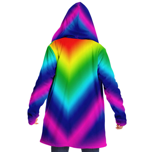 Rainbow Ombre Microfiber Fleece Jacket-Microfleece Cloak - AOP-Subliminator-Heidi Kimura Art LLC