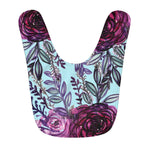 Ai Blue Purple Floral Rose Cute Toddler Fleece Baby Bib - Designed and Made in USA