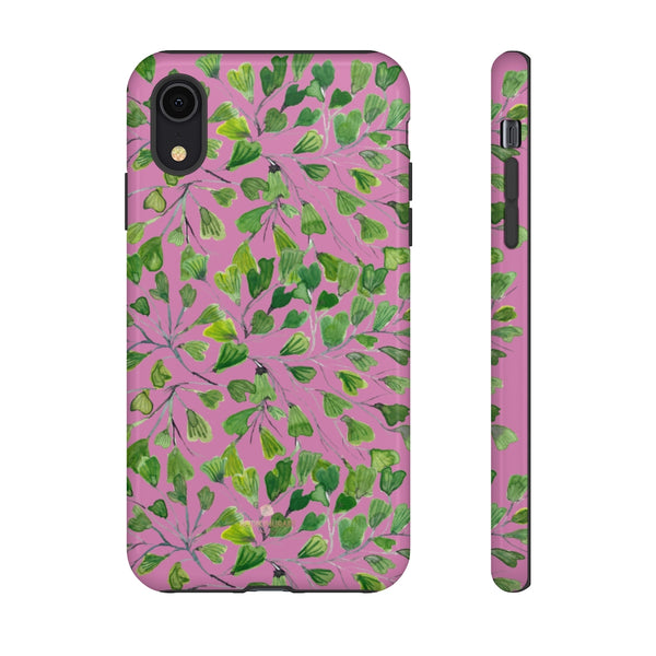 Blue Maidenhair Fern Tough Cases, Green Leaf Print Phone Case-Made in USA-Phone Case-Printify-iPhone XR-Glossy-Heidi Kimura Art LLC