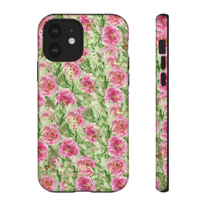Garden Rose Phone Case, Roses Floral Print Tough Designer Phone Case -Made in USA-Phone Case-Printify-iPhone 12-Glossy-Heidi Kimura Art LLC