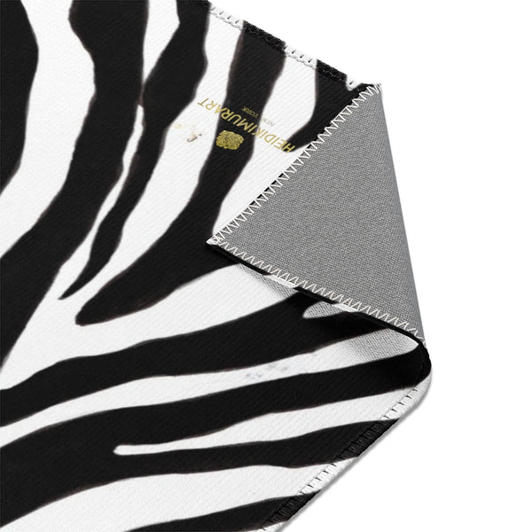Deluxe White Black Zebra Animal Print Designer 24x36, 36x60, 48x72 inches Area Rugs-Area Rug-Heidi Kimura Art LLC