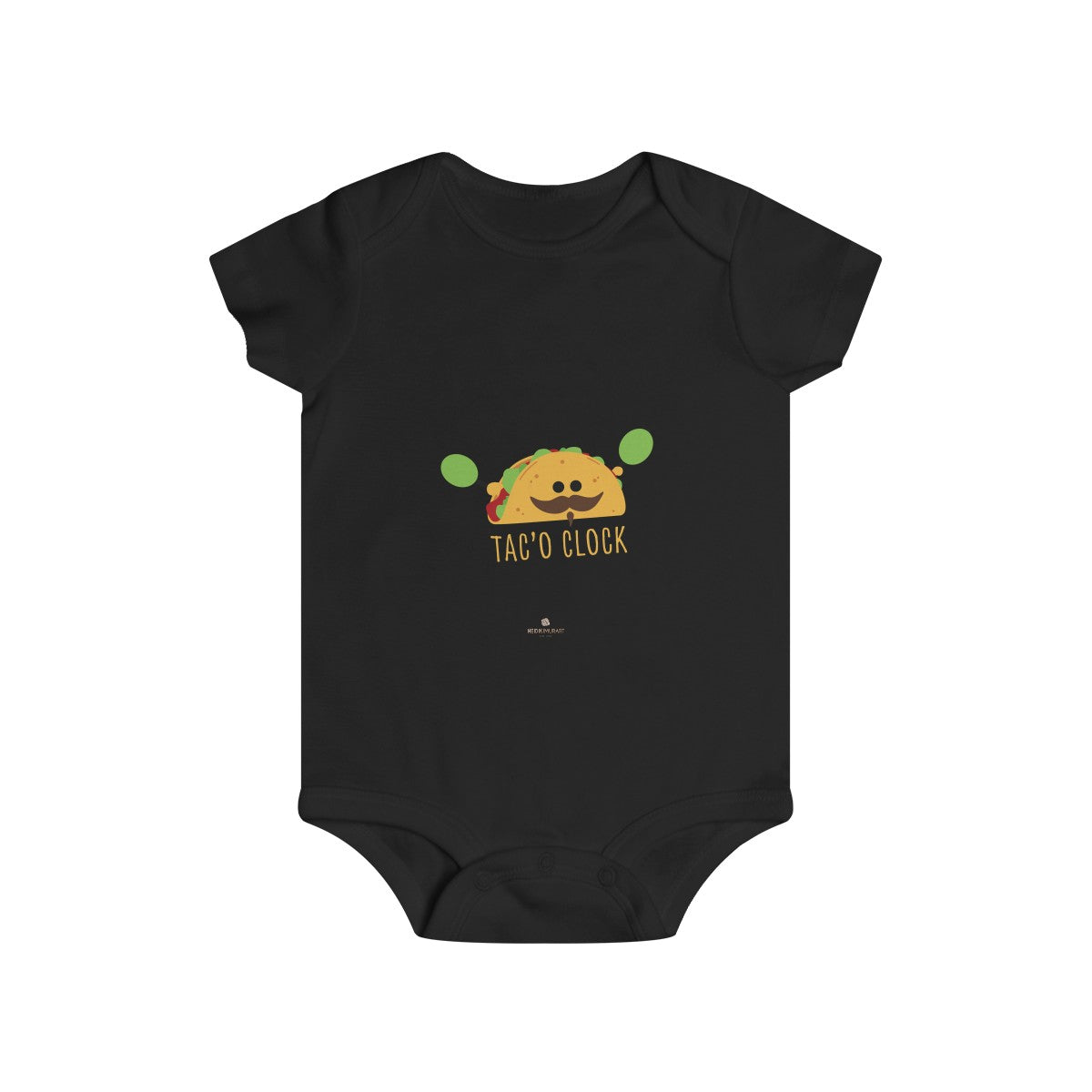 Taco Lover Cute Infant Rip Snap Soft Cotton Tee Regular Fit Premium Quality Baby Bodysuits - Made in USA