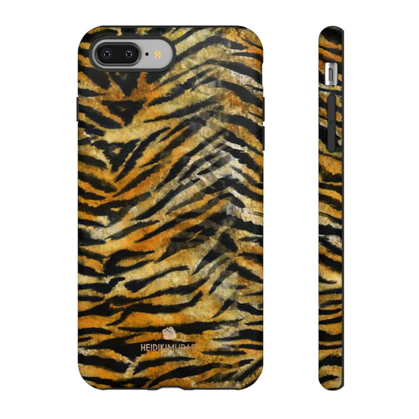 Orange Tiger Striped Phone Case, Animal Print Tough Cases, Designer Phone Case-Made in USA-Phone Case-Printify-iPhone 8 Plus-Matte-Heidi Kimura Art LLC