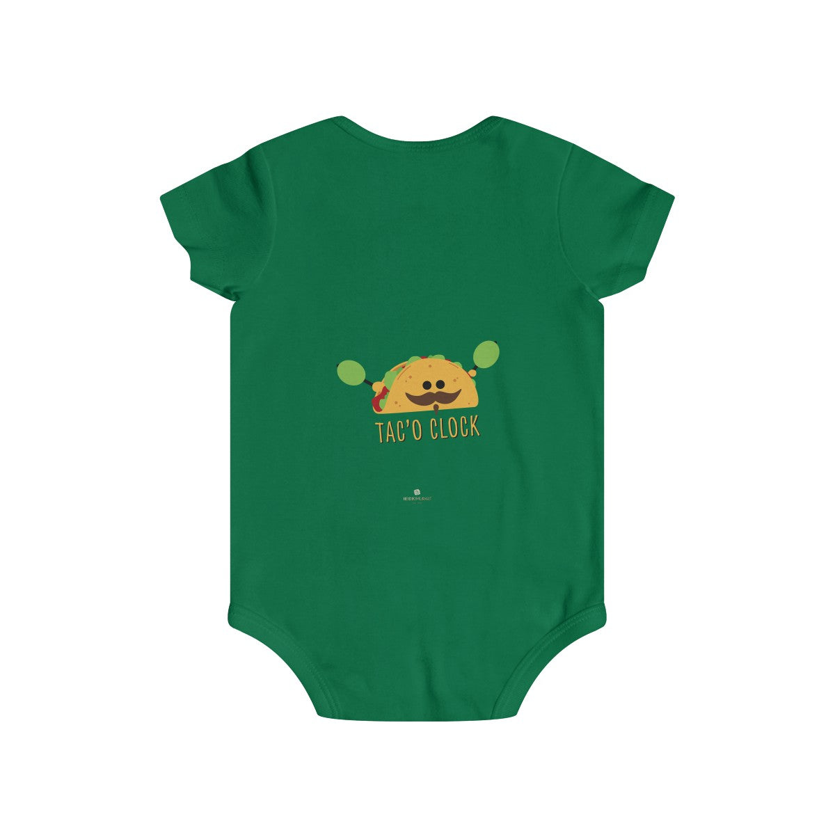Taco Lover Cute Infant Rip Snap Tee Regular Fit Soft Cotton Baby Bodysuits -Made in USA-Infant Short Sleeve Bodysuit-Printify-DTG2Go-Soft Pink-6m-Heidi Kimura Art LLC