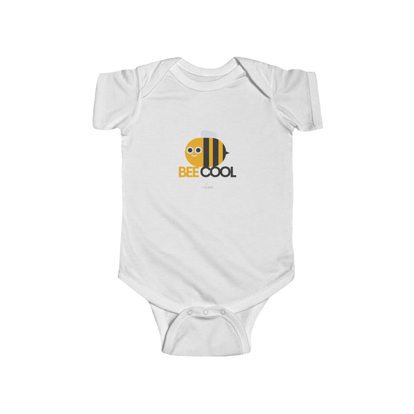Bee Cotton Kids Bodysuit, Cool Infant Fine Jersey Regular Fit Unisex Clothes - Made in UK-Infant Short Sleeve Bodysuit-Heidi Kimura Art LLC