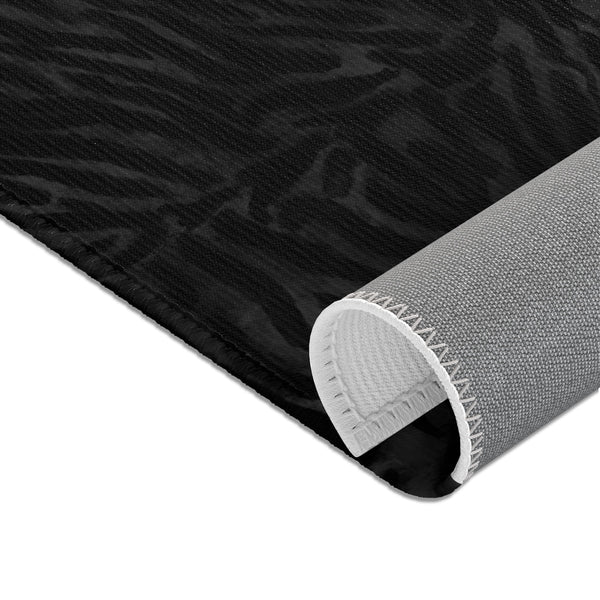 Black Tiger Stripe Animal Print Designer 24x36, 36x60, 48x72 inches Area Rugs - Printed in USA-Area Rug-Heidi Kimura Art LLC Black Tiger Stripe Carpet, Black Tiger Stripe Animal Print Designer 24x36, 36x60, 48x72 inches Machine Washable Area Rugs/ Carpet-Printed in the USA