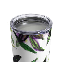Morie Forest Tropical Leaves Floral Tumbler 10oz, Made in USA - Heidi Kimura Art LLC