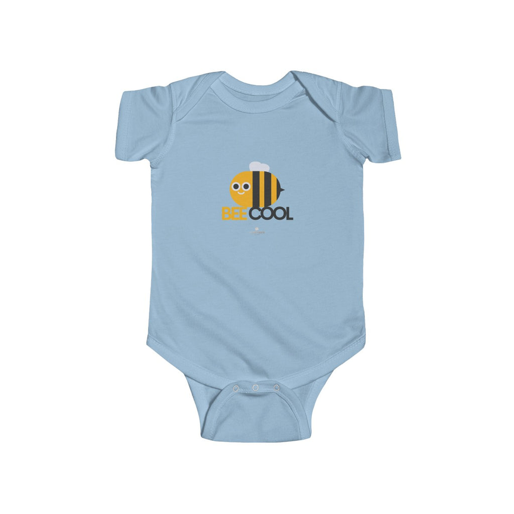 Bee Cool Infant Fine Jersey Regular Fit Unisex Cute Cotton Kids Bodysuit - Made in UK - Heidi Kimura Art LLC