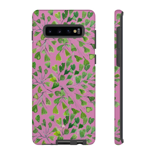 Blue Maidenhair Fern Tough Cases, Green Leaf Print Phone Case-Made in USA-Phone Case-Printify-Samsung Galaxy S10 Plus-Glossy-Heidi Kimura Art LLC