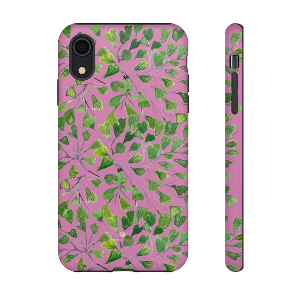 Blue Maidenhair Fern Tough Cases, Green Leaf Print Phone Case-Made in USA-Phone Case-Printify-iPhone XR-Matte-Heidi Kimura Art LLC