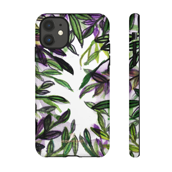 Tropical Leave Print Tough Cases, Designer Phone Case-Made in USA-Phone Case-Printify-iPhone 11-Glossy-Heidi Kimura Art LLC