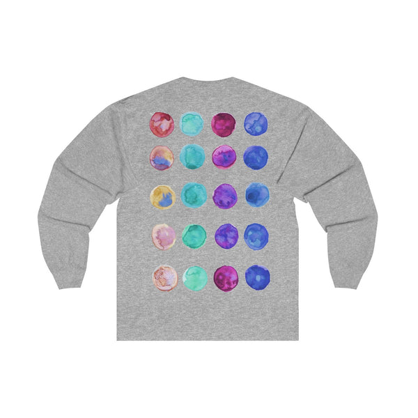 Polka Dots Unisex Designer Premium Long Sleeve Tee - Designed + Made in USA-Long-sleeve-Heidi Kimura Art LLC