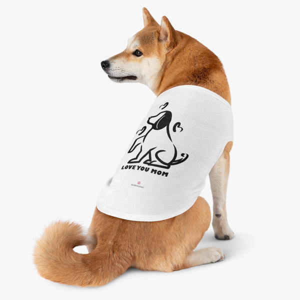 Best Pet Tank Top For Dog/ Cat, Lovely Heart Dog Mom Premium Cotton Pet Clothing For Cat/ Dog Moms, For Medium, Large, Extra Large Dogs/ Cats, (Size: M, L, XL)-Printed in USA, Tank Top For Dogs Puppies Cats, Dog Tank Tops, Dog Clothes, Dog Cat Suit/ Tshirt, T-Shirts For Dogs, Dog, Cat Tank Tops, Pet Clothing, Pet Tops, Dog Outfit Shirt, Dog Cat Sweater, Gift Dog Cat Mom Dad, Pet Dog Fashion