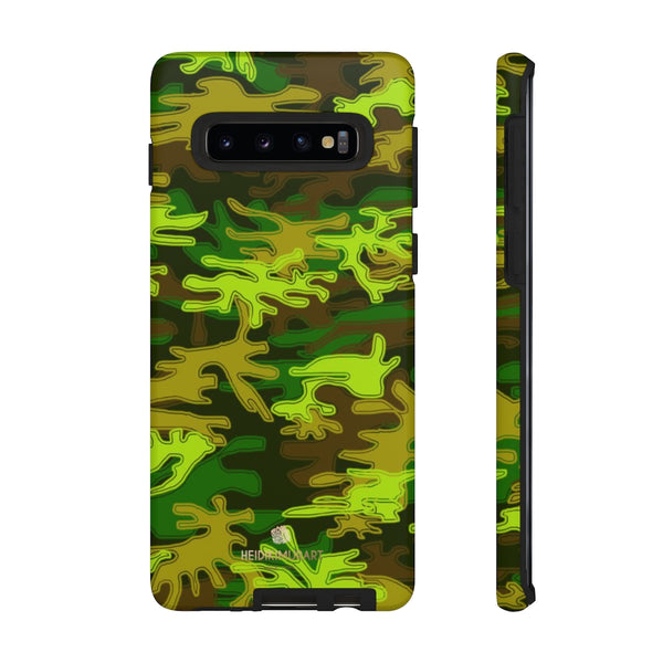 Green Camouflage Phone Case, Army Military Print Tough Designer Phone Case -Made in USA-Phone Case-Printify-Samsung Galaxy S10-Matte-Heidi Kimura Art LLC
