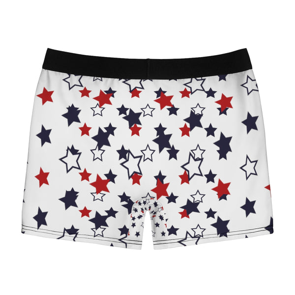 July Forth Independence Day Patriotic American Boy Men's Boxer Briefs-Men's Underwear-Heidi Kimura Art LLC