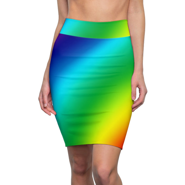 Rainbow Colorful Women's Pencil Skirt