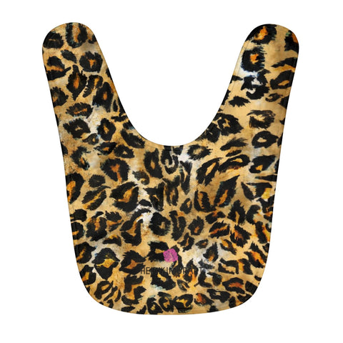 Leopard Animal Print Cute Toddler Fleece Baby Bib - Designed + Made in USA-Kids clothes-One Size-Heidi Kimura Art LLC