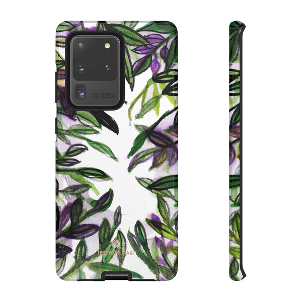 Tropical Leave Print Tough Cases, Designer Phone Case-Made in USA-Phone Case-Printify-Samsung Galaxy S20 Ultra-Glossy-Heidi Kimura Art LLC