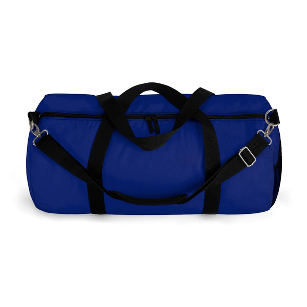 Military Blue Solid Color All Day Small Or Large Size Duffel Bag, Made in USA-Duffel Bag-Heidi Kimura Art LLC