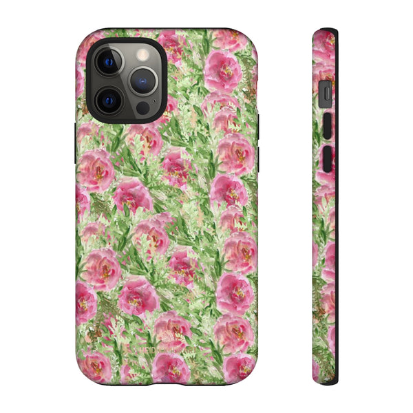 Garden Rose Phone Case, Roses Floral Print Tough Designer Phone Case -Made in USA-Phone Case-Printify-iPhone 12 Pro-Glossy-Heidi Kimura Art LLC
