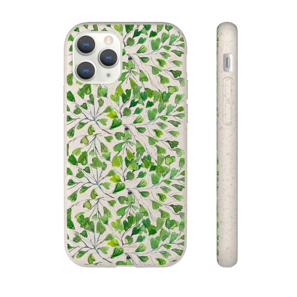 Green Clover Leaf Biodegradable Case, Eco-Friendly Compostable Slim Lightweight Phone Case-Phone Case-Printify-iPhone 11 Pro-Heidi Kimura Art LLC