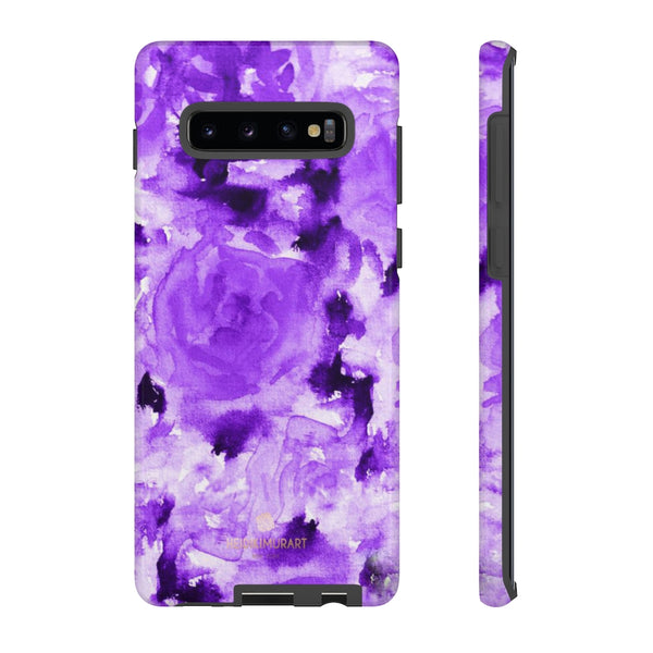 Purple Floral Rose Phone Case, Roses Floral Print Tough Designer Phone Case -Made in USA-Phone Case-Printify-Samsung Galaxy S10 Plus-Glossy-Heidi Kimura Art LLC
