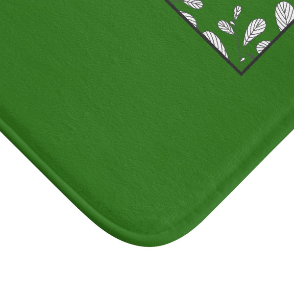 "Green ""Creative Adult Is The Child Survived"" Inspirational Quote Bath Mat- Printed in USA-Bath Mat-Heidi Kimura Art LLC"