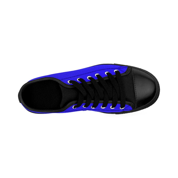 Deep Blue Sky Solid Color Designer Men's Running Low Top Sneakers Tennis Shoes-Men's Low Top Sneakers-Heidi Kimura Art LLC Deep Blue Men's Sneakers, Deep Blue Sky Solid Color Designer Men's Running Low Top Sneakers Tennis Shoes (US Size: 7-14)