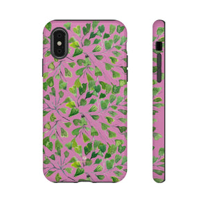 Blue Maidenhair Fern Tough Cases, Green Leaf Print Phone Case-Made in USA-Phone Case-Printify-iPhone X-Glossy-Heidi Kimura Art LLC