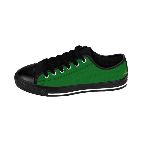 Evergreen Oregon Green Solid Color Men's Running Low Top Sneakers Shoes (Size: 6-14)-Men's Low Top Sneakers-Heidi Kimura Art LLC Evergreen Men's Sneakers, Evergreen Oregon Green Solid Color Men's Running Low Top Fashion Sneakers Shoes (Size: 6-14)