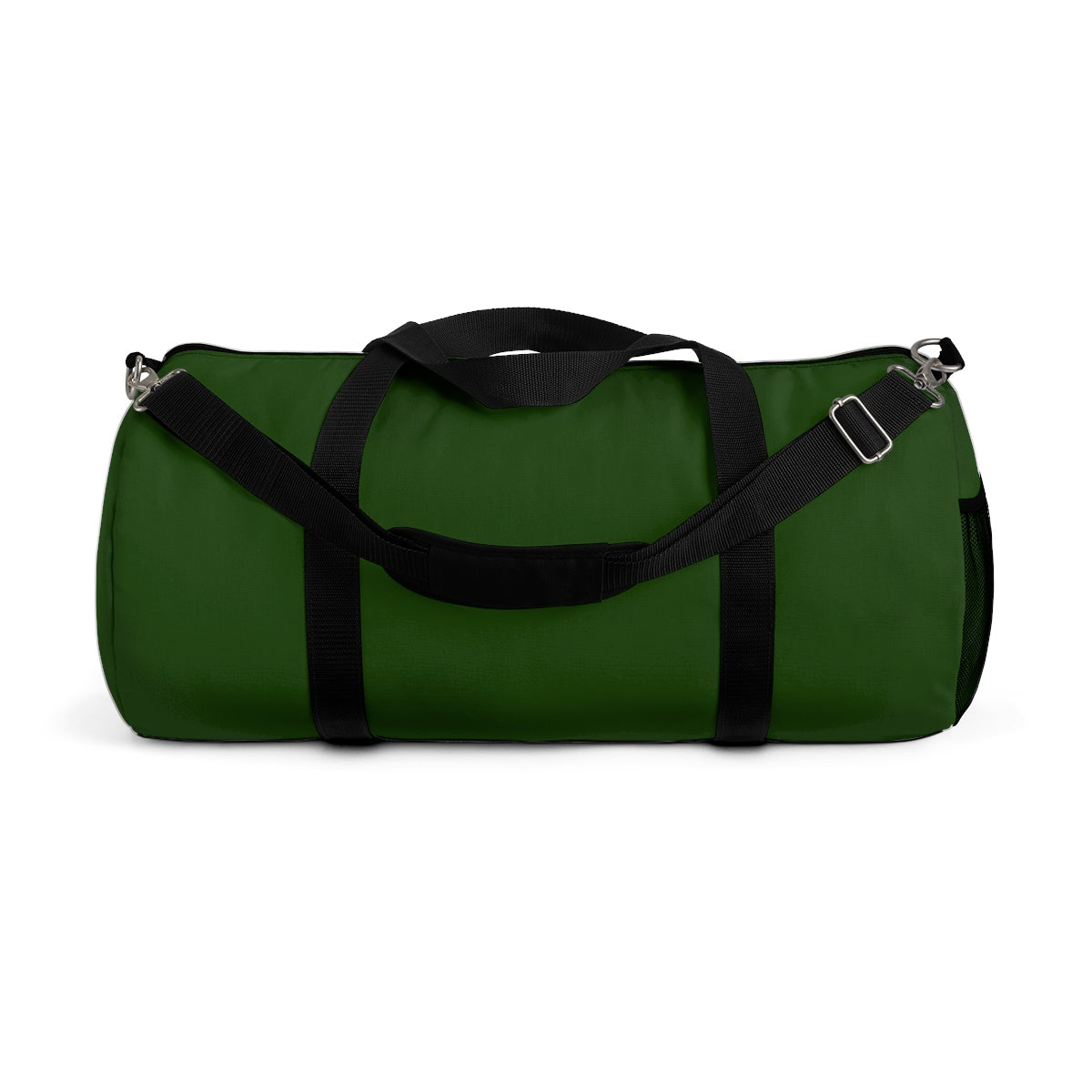 Emerald Green Solid Color All Day Small Or Large Size Duffel Bag, Made in USA-Duffel Bag-Small-Heidi Kimura Art LLC