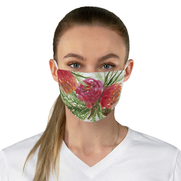 "Cute Red Rose Face Mask, Adult Modern Flower Print Fabric Face Mask-Made in USA-Accessories-Printify-One size-Heidi Kimura Art LLC Cute Red Rose Face Mask, Adult Modern Flower Roses Print Face Mask, Fashion Face Mask For Men/ Women, Designer Premium Quality Modern Polyester Fashion 7.25"" x 4.63"" Fabric Non-Medical Reusable Washable Chic One-Size Face Mask With 2 Layers For Adults With Elastic Loops-Made in USA"