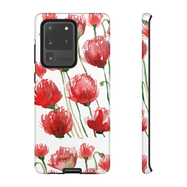 Red Tulips Floral Tough Cases, Roses Flower Print Best Designer Phone Case-Made in USA-Phone Case-Printify-Samsung Galaxy S20 Ultra-Glossy-Heidi Kimura Art LLC