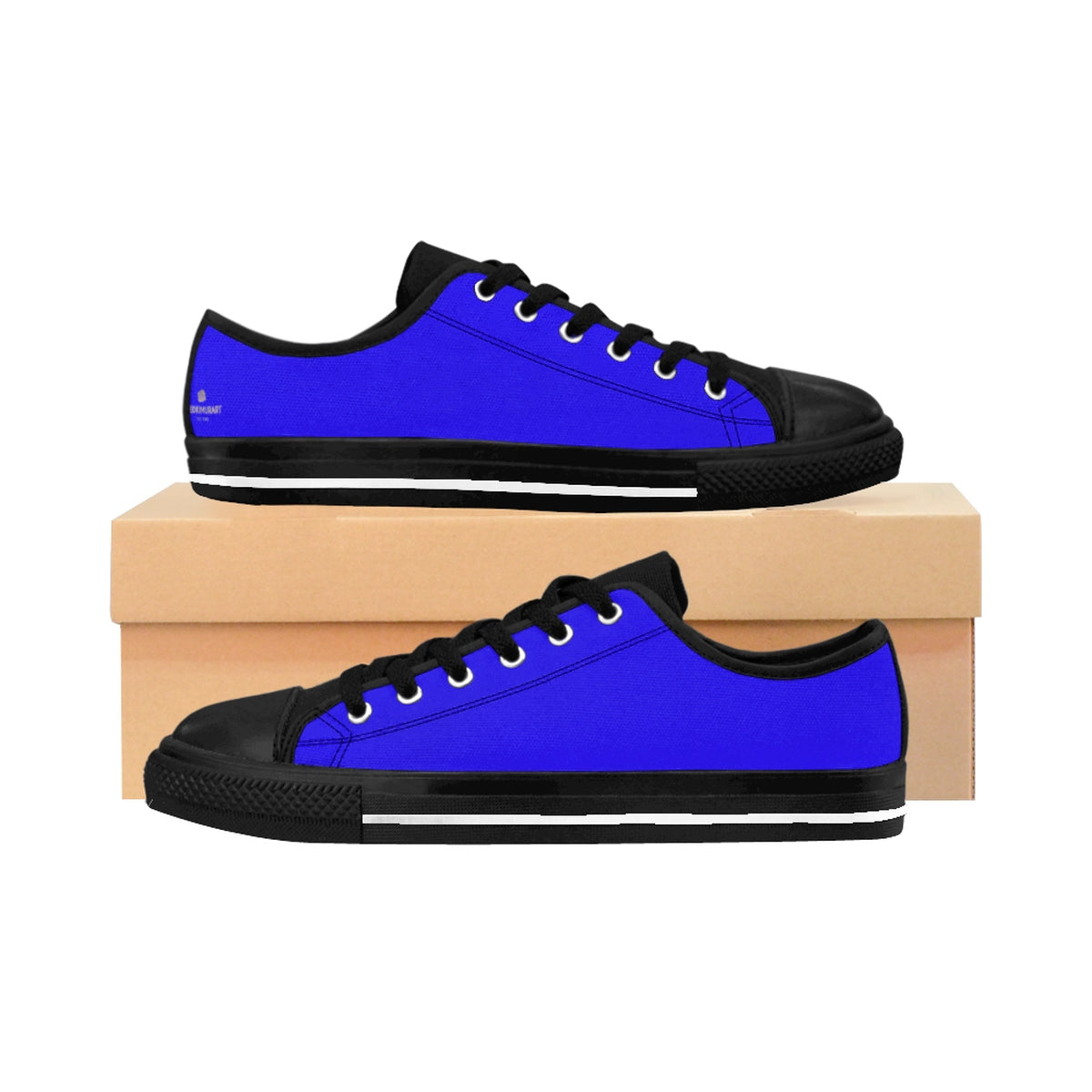 Deep Blue Sky Solid Color Designer Men's Running Low Top Sneakers Tennis Shoes-Men's Low Top Sneakers-US 9-Heidi Kimura Art LLC Deep Blue Men's Sneakers, Deep Blue Sky Solid Color Designer Men's Running Low Top Sneakers Tennis Shoes (US Size: 7-14)