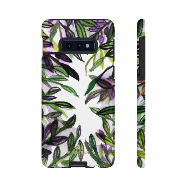 Tropical Leave Print Tough Cases, Designer Phone Case-Made in USA-Phone Case-Printify-Samsung Galaxy S10E-Glossy-Heidi Kimura Art LLC