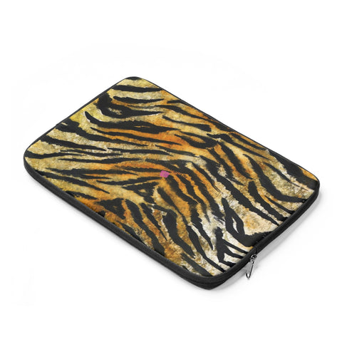 "Wild Big Cat Tiger Stripe Animal Print 12"",13"",14"" Laptop Sleeve Cover - Made in the USA-Laptop Sleeve-Heidi Kimura Art LLC"