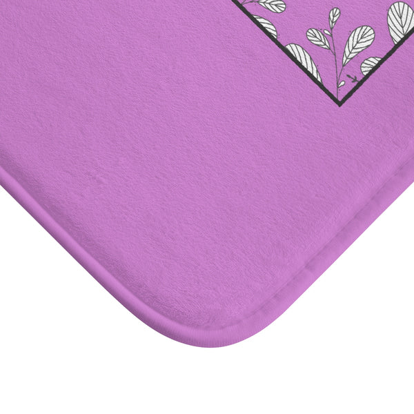 "Pink ""Creative Adult Is The Child Survived"" Inspirational Quote Bath Mat- Printed in USA-Bath Mat-Heidi Kimura Art LLC"