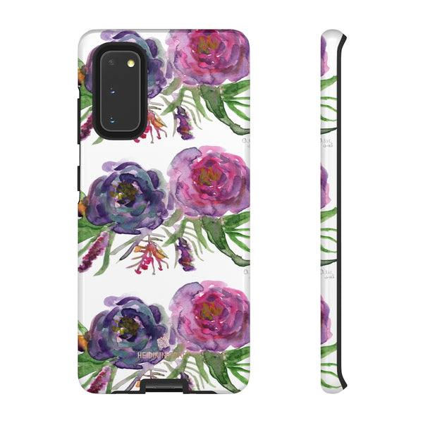 Pink Floral Print Phone Case, Roses Tough Designer Phone Case -Made in USA-Phone Case-Printify-Samsung Galaxy S20-Glossy-Heidi Kimura Art LLC