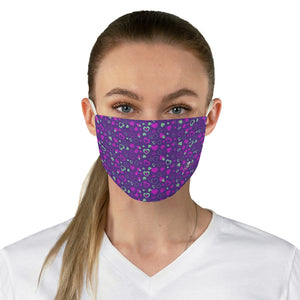 "Purple Pink Hearts Face Mask, Adult Heart Pattern Fabric Face Mask-Made in USA-Accessories-Printify-One size-Heidi Kimura Art LLC Purple Pink Hearts Face Mask, Valentine's Day Adult Heart Pattern Designer Fashion Face Mask For Men/ Women, Designer Premium Quality Modern Polyester Fashion 7.25"" x 4.63"" Fabric Non-Medical Reusable Washable Chic One-Size Face Mask With 2 Layers For Adults With Elastic Loops-Made in USA"