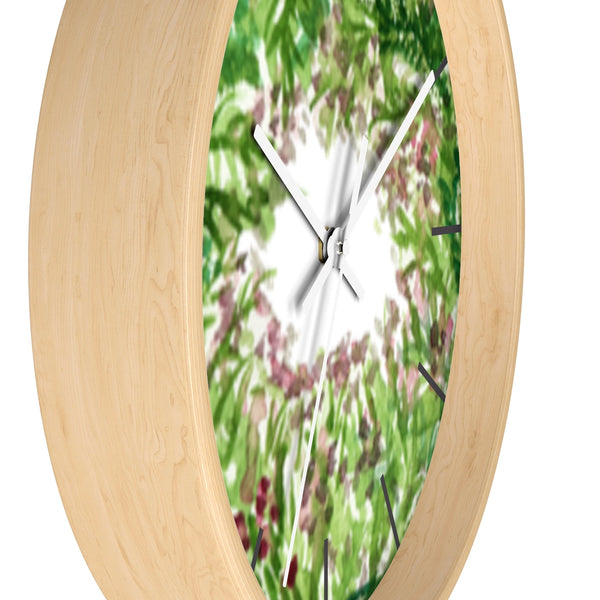 Purple French Lavender Floral Print 10 inch Diameter Wall Clock - Made in USA-Wall Clock-Heidi Kimura Art LLC
